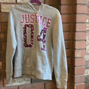 Justice zip hoodie